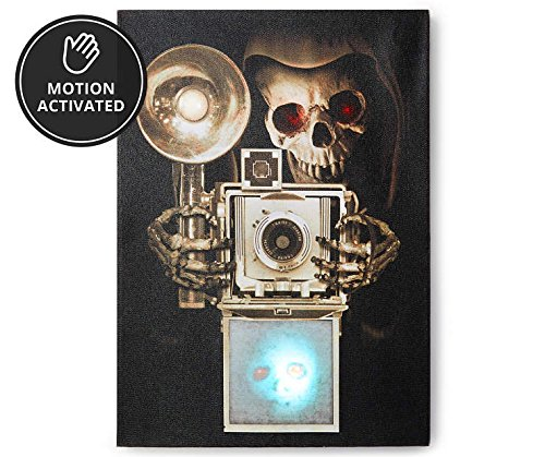 Skeleton Photograph Light & Sound Wall Canvas