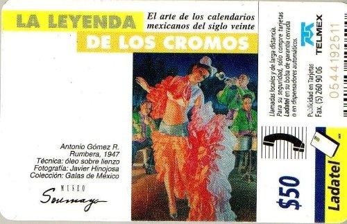 Amazon.com: Antonio Gomez R Rumbera Mexican Ladatel Phone Card Leyenda Cromos Soumaya Museum: Cell Phones & Accessories