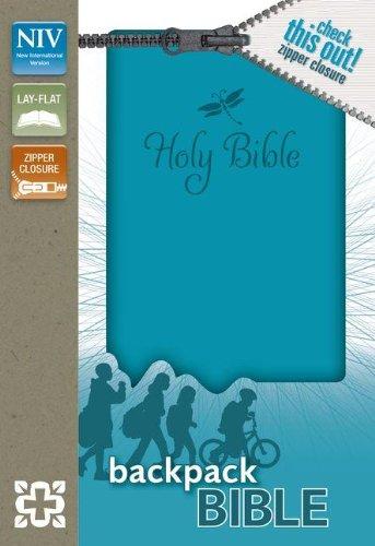 NIV, Backpack Zipper Bible, Imitation Leather, Turquoise, Red Letter (Imitation Leather Zipper)