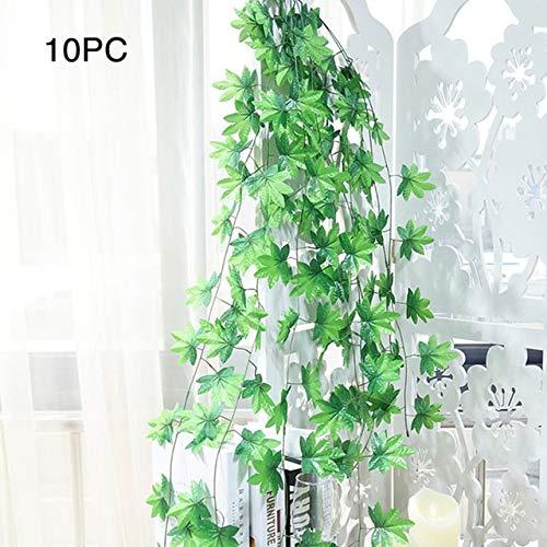 Decorations 10pcs Wedding Handrail Art Ceiling Huckus Fruit Store Plant Party Leaf Wall Grille Decoration Simulation Artificial Rattan - (Color: - Wall Grille Leaf