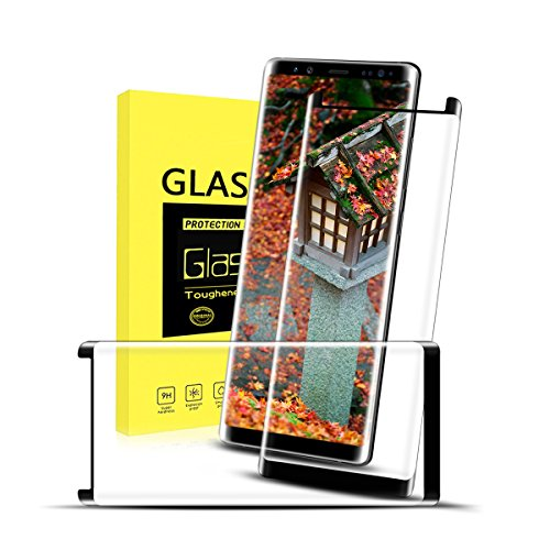 tengsu Galaxy Note 8 Screen Protector (2-Pack), [Care Fridendly] [3D Touch Compatible] HD Clear Anti- Glare and Bubble-Free Tempered Glass Screen Protector for Galaxy Note 8