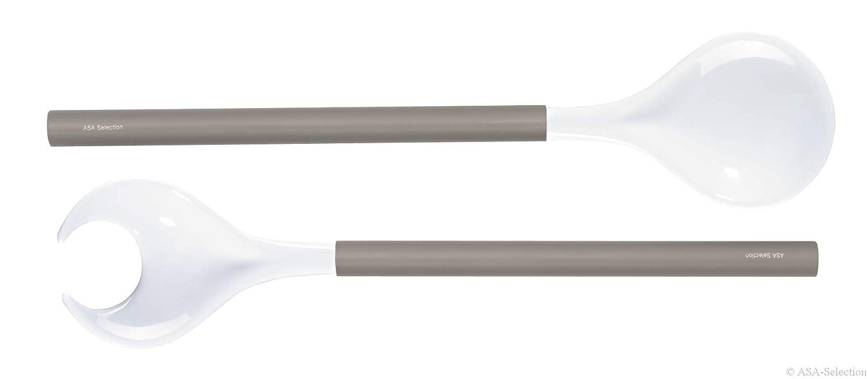 ASA Couverts /à Salade 5214111/Mesurables en Bois Gris//Blanc 10/x 10/x 1/cm