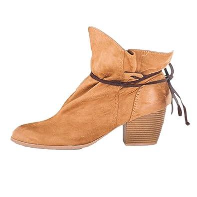 OSYARD Bottes et Bottines Femme Bottes Femme Plates Chaussures Lacets  Cuisses Haut Tessons Bottes de Moto Chaussures  Amazon.fr  Chaussures et  Sacs 832a2c7430f8