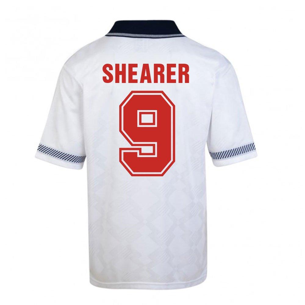 Score Draw England World Cup 1990 Home Football Soccer T-Shirt Trikot (Alan Shearer 9)