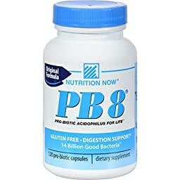 PB 8 Pro-Biotic Acidophilus Nutrition Now 120 Caps