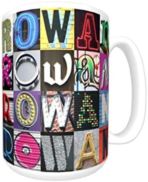 Amazon Com Rowan Coffee Mug Cup Using Photos Of Sign Letters Personalized Everything Else