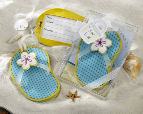 Flip-Flop Luggage Tag in Beach-Themed Gift Box (Set of 72) by Baby Shower Gifts & Wedding Favors