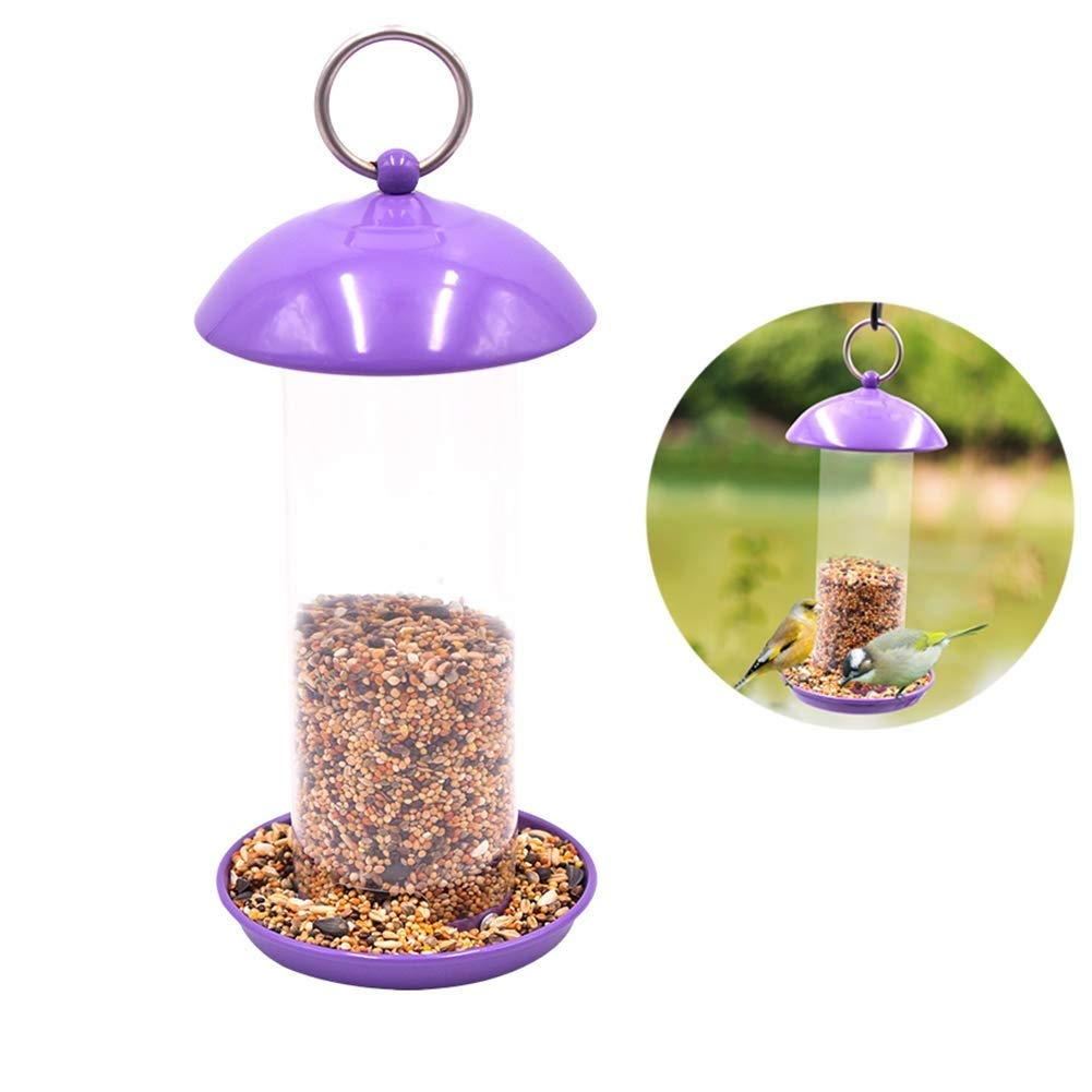 B MC.PIG Bird Feeders for Outdoor Environmentally Friendly Feeding Wild Birds Like Nature to Predect Animal Birds (Purple) (Shape   B)