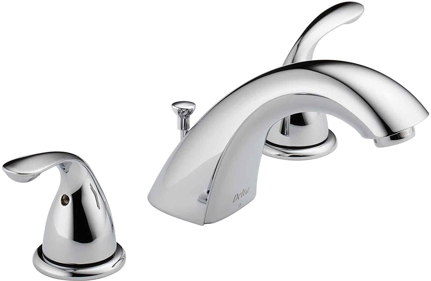 Delta Faucet 3530LF-MPU Classic Two Handle Widespread Bathroom ...