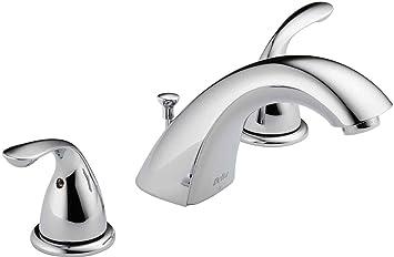 Delta Faucet 3530LF-MPU Classic Two Handle Widespread Bathroom ...
