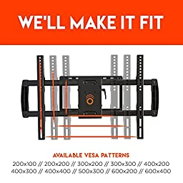 ECHOGEAR Full Motion Articulating TV Wall Mount Bracket for most 37-70 inch LED, LCD, OLED and Plasma Flat Screen TVs w/ VESA patterns up to 600 x 400 - 16\