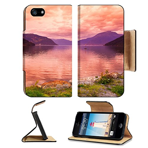 Liili Apple Iphone 5 Plus Iphone 5S Plus Flip Pu Leather Wallet Case Sunset In Fjord Hardanger Norway Nature And Travel Background Iphone5 Image Id 39021222