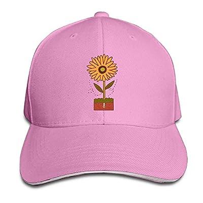 GHEDPO Logo-Design-Cartoon-Sunflower Unisex Dad Caps Fashion Baseball Cap from GHEDPO