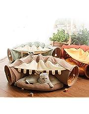 Katze Tunnel Pet Cat Play Tunnel Tube Kätzchen Spielzeug,Faltbar Katzentunnel Katzenspielzeug Rascheltunnel für Katzen