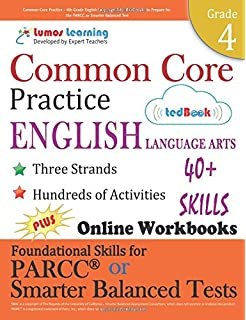 Amazon common core practice 3rd grade english language arts common core practice 4th grade english language arts workbooks to prepare for the parcc fandeluxe Images
