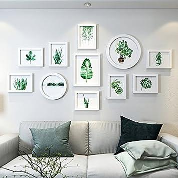 Bilderrahmen Set Weiß D grünen Pflanzen Foto wand Dekoration ...