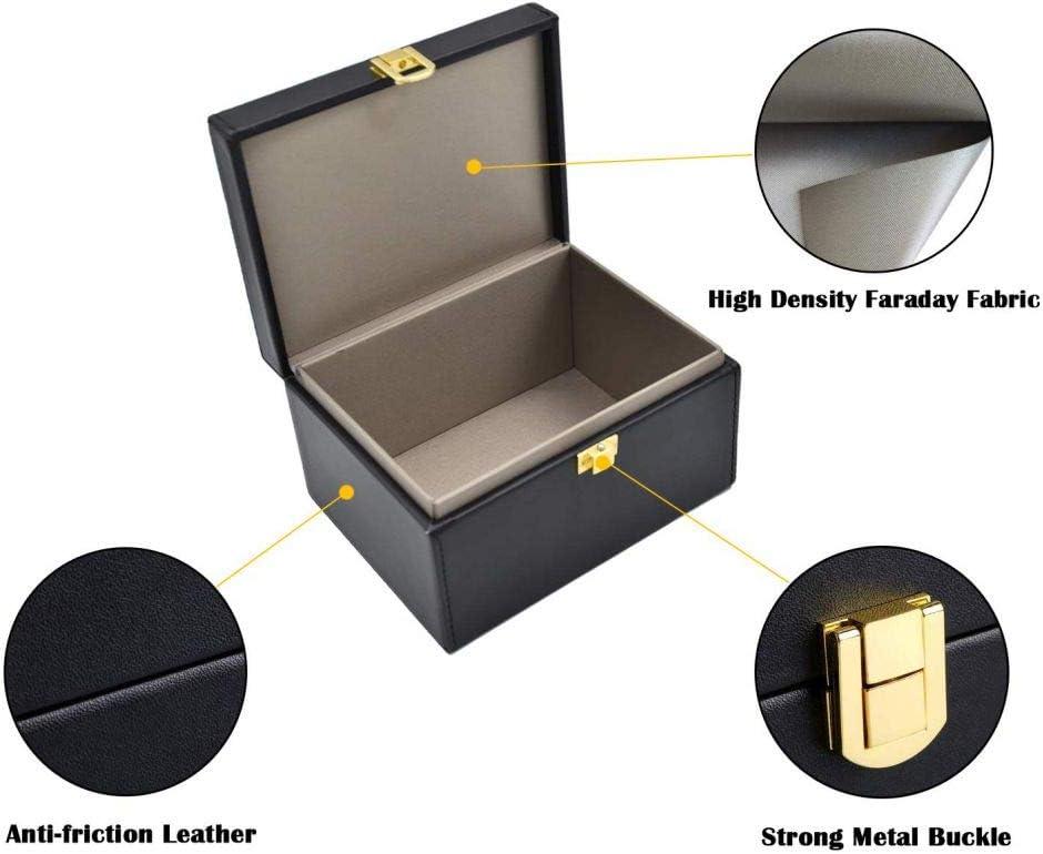 Gyratedream Faraday Box Llavero Protector Protector Caja Bloqueador de señal Caja para Llaves de Coche Teléfonos Caja de Bloqueo de señal RFID Llave del Coche Caja Fuerte Caja de Llave: Amazon.es: Coche