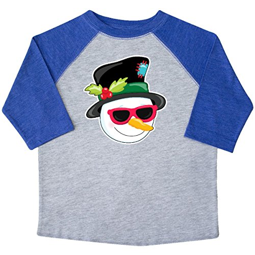 inktastic Snowman Head With Sunglasses Toddler T-Shirt 2T Heather and - Sunglasses 4034