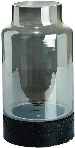 Mercury Glass Vase with Clay Base Large
