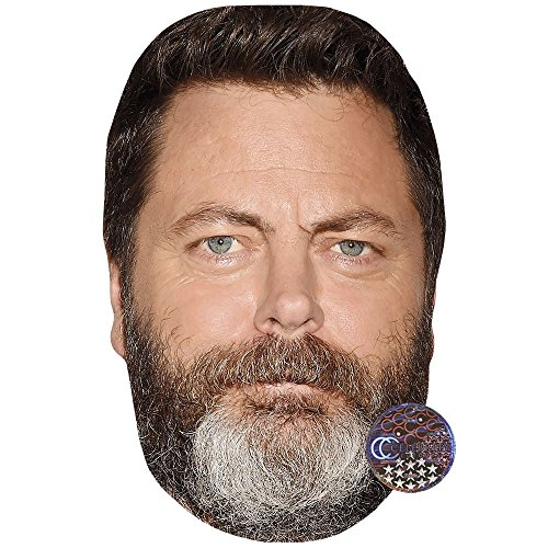 Nick Offerman Celebrity Mask, Card Face and Fancy Dress Mask