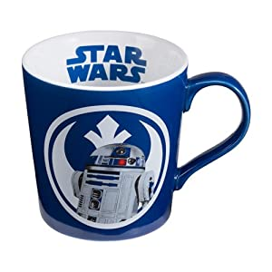 Star Wars R2D2 Ceramic 12-Ounce Blue And White Mug