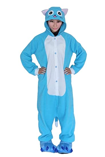 Amazon.com  Lifeye Adult Happy Cat Pajamas Animal Cosplay Costume  Clothing af3e17f87