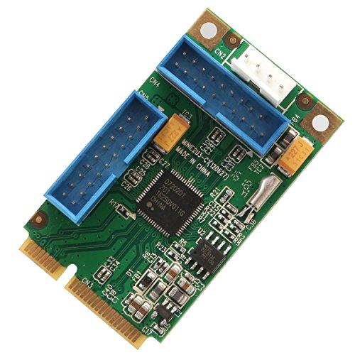 IO Crest SD-MPE20215 Mini PCI-Express USB 3.0 Host Controller Card with Renesas D720201 chipset. Windows OS XP 7 Server 2008 R2.
