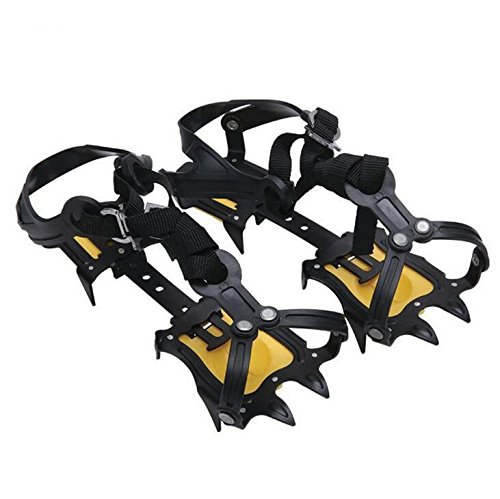 TTYY 10 Teeth Claws Crampons Non slip Shoes Cover Stainless Steel Chain Outdoor Ski Hiking Ice Climbing