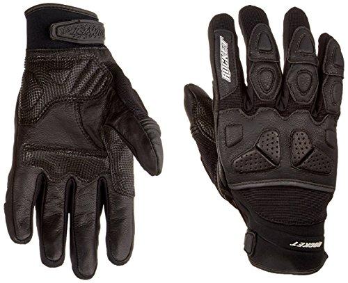 Joe Rocket Atomic X Men's Motorcycle Riding Gloves (Black/Black, Medium)