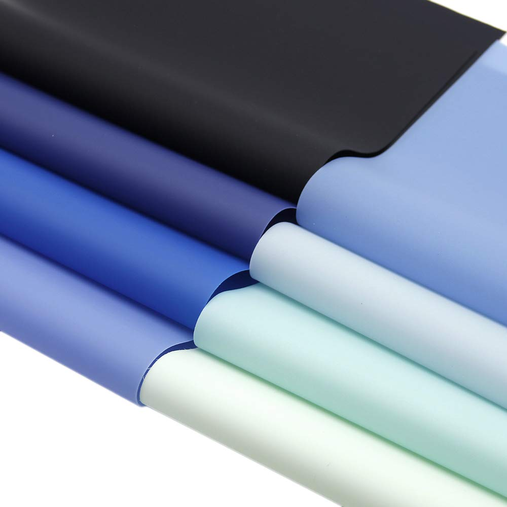 David accessories Solid Color Jelly Faux Leather Sheets Frosted Smooth Waterproof PVC Synthetic Leather Fabric 26 Pcs 8'' x 13'' (20cm x 34cm) for DIY Craft Project (26pcs Jelly Sheets) by David accessories (Image #6)