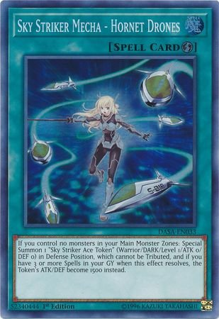 Striker Spell (Sky Striker Mecha - Hornet Drones - DASA-EN033 - Super Rare - 1st Edition)