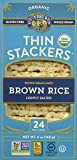 Lundberg Family Farms Thin Stackers Brown Rice Lightly Salted Grain Cakes, 5.9 Ounce (Pack of 12)
