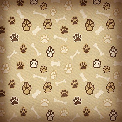 Karen Foster 65022 25 Sheets Paws and Bones Scrapbooking - Karen Foster Dog