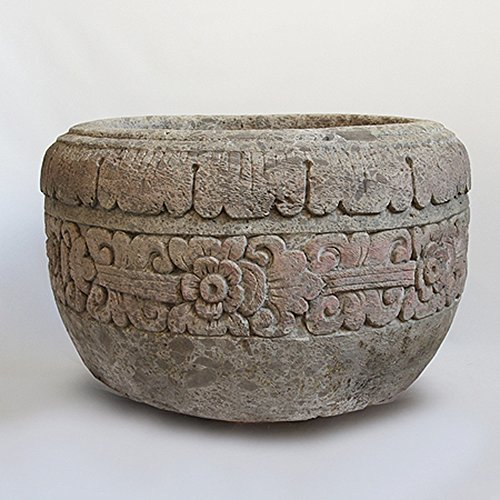 Stone Carved Pot by Mix Furniture