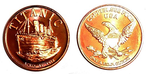 1 – 1 Ounce Titanic Copper Round Collection –