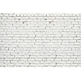 7x5ft White Brick Wall Backdrop Photography Background Studio Prop Photo Backdrop D-5047