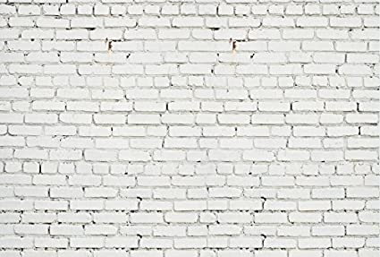 amazon com 7x5ft white brick wall backdrop photography background