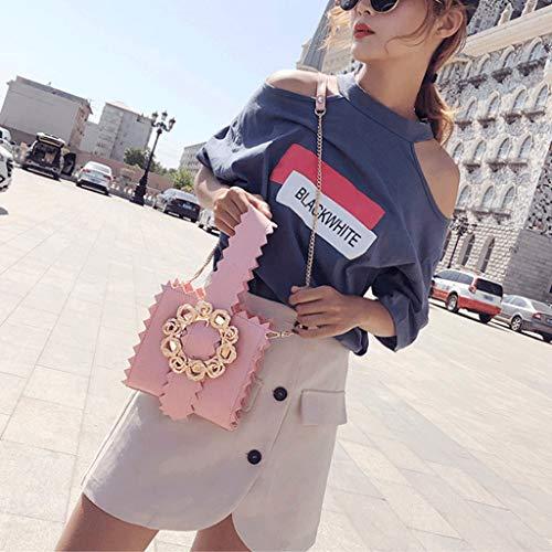 Portable Sacs Crossbody Sac de de GJ Lady Kaki Leisure de Femme plage Bag Bag mode bandoulière Couleur Fleurs Pink à Sacs Sac voyage a0w06fzq