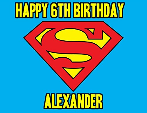 Superman Logo Image Photo Cake Topper Sheet Personalized ...