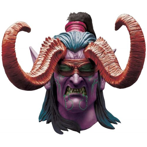 Rubie's Costume Co Men's World Of Warcraft Illidan Stormrage Deluxe Latex Mask, Multi, One -