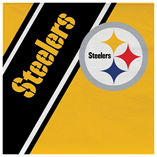 NFL Pittsburgh Steelers Disposable Paper Napkins, Pack of 20
