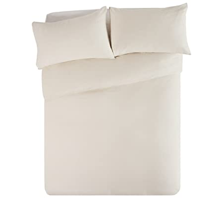 c4d07a352ee Collection Cream Brushed Cotton Bedding Set - Double  Amazon.co.uk  Kitchen    Home
