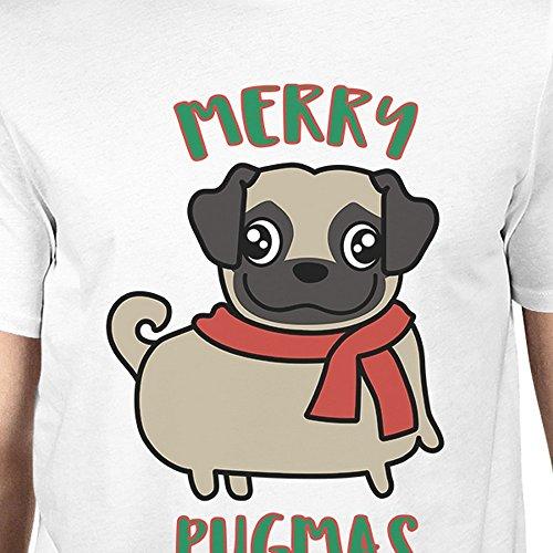 manga corta hombre 365 Pug Camiseta Pugmas Merry o para Printing de un tama qxgBt