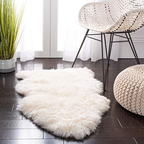 - Safavieh Sheepskin Collection SHS121A Genuine Sheepskin Pelt White Premium Shag Runner (2' x 6')