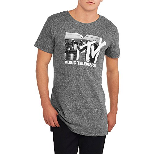 Extended Graphics - MTV Music Television Logo Men's Extended Length Graphic Tee (XL)