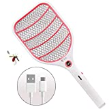Bug Zapper Racket,Electric Fly Swatter,Fly Killer and Mosquito Swatter - USB Rechargeable