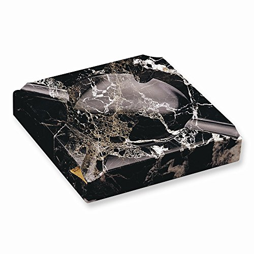 Top 10 Jewelry Gift Black Solid Marble Square Cigar Ashtray