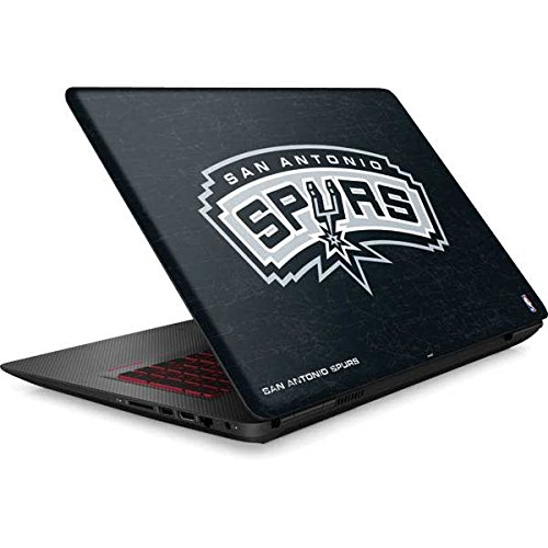 Skinit NBA San Antonio Spurs Omen 15in Skin - San Antonio Spurs Primary Logo Design - Ultra Thin, Lightweight Vinyl Decal Protection by Skinit