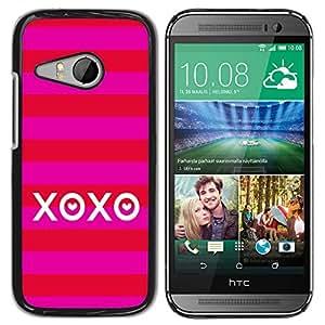 iKiki Tech / Estuche rígido - Love Kisses Summer Stripes Red - HTC ONE MINI 2 / M8 MINI