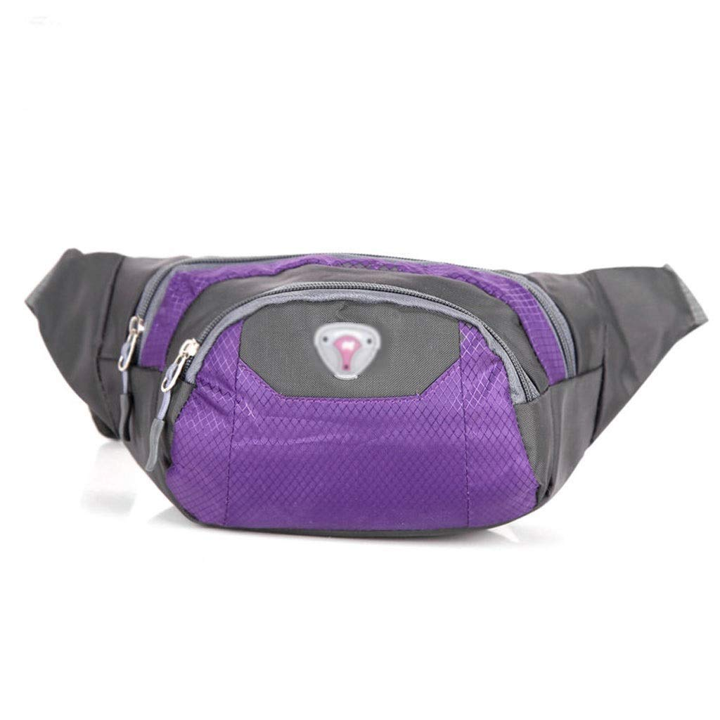 FS Ass Bag, Multi-Function Pocket Pockets, Sports and Leisure Diagonal Bag, Large-Capacity Pockets (Color : Purple)
